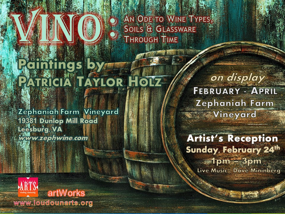 Artist Patricia Taylor Holz Paints Delicious Wine Series in New artWorks Exhibit