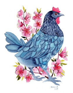"""Blue Hen"" by Marni Manning"