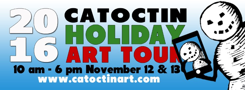 The sixth annual Catoctin Holiday Art Tour will be held on November 12th & 13th, 2016