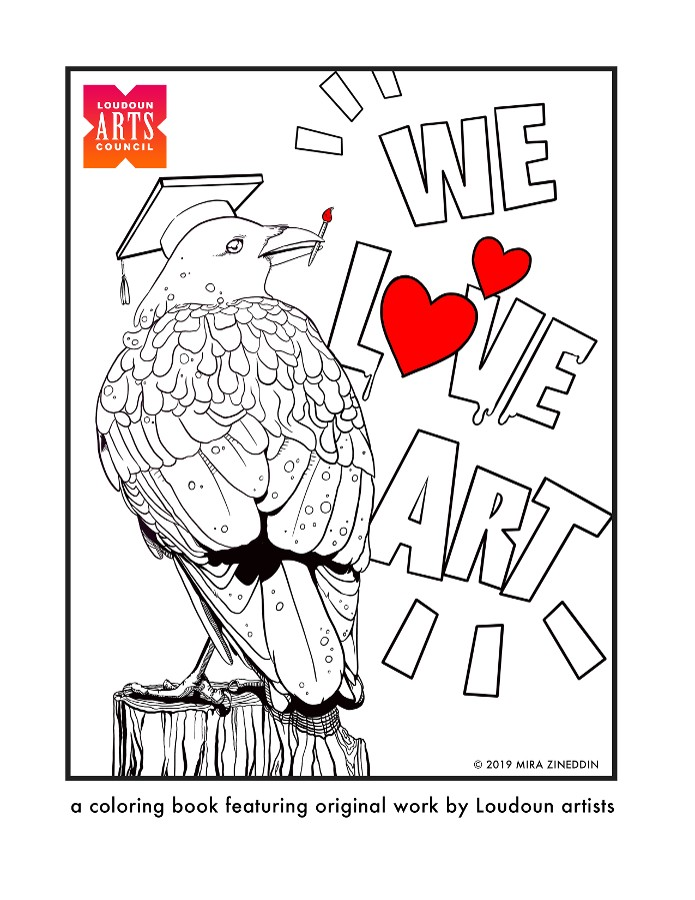 A coloring book complied by the LAC and  featuring the work of Loudoun Artists will debut at the festival