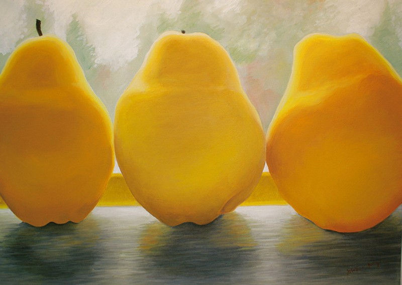 """Autumn View (Three Pears)"" - oil on canvas"