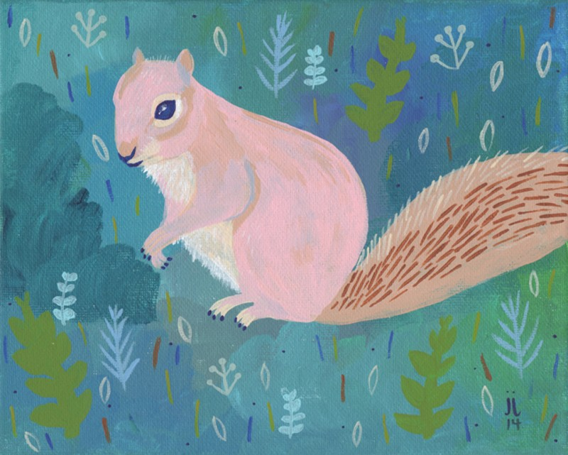 """Pink Squirrel"" by June Jewell"
