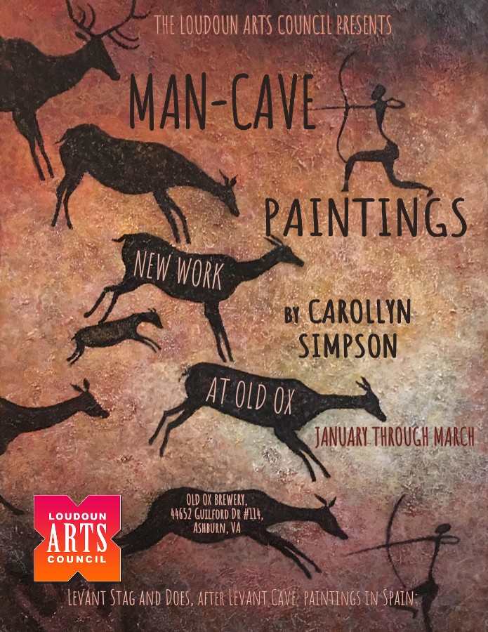 Man-Cave Paintings will be on exhibit at Old Ox Brewery through March 2019