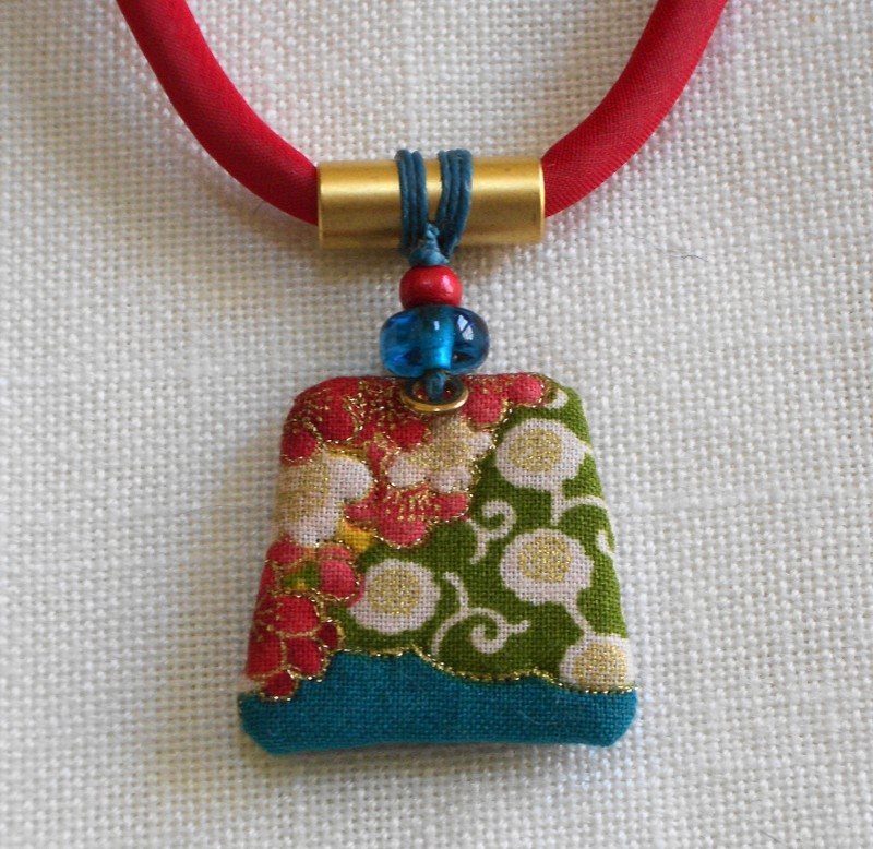 Asian Flower Pendant by Mary Kenesson