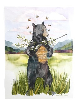 "Postcard ""The Bear"" by Marni Manning"