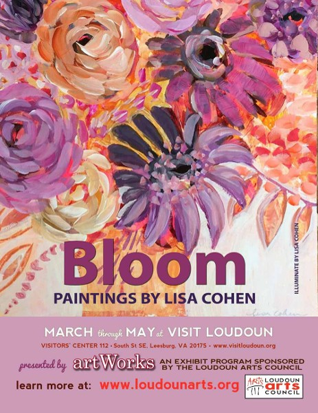 """Bloom,"" by Lisa Cohen, on exhibit March through May at Visit Loudoun's Visitor Center"
