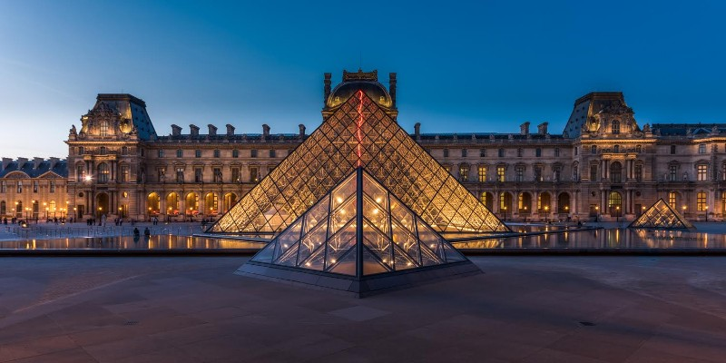 """Le Louvre at Sunset, Paris France"" by William Toti"