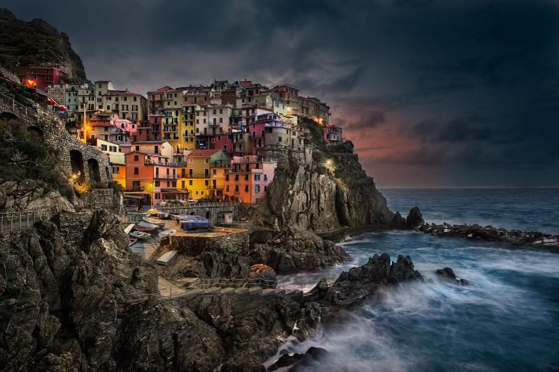 """Manarola Sunrise, Cinque Terre, Italy"" by William Toti"
